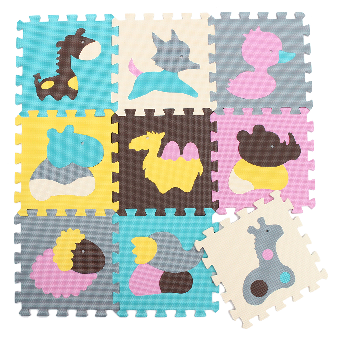 9pcs Cartoon Interlocking Eva Foam Soft Puzzle Mat