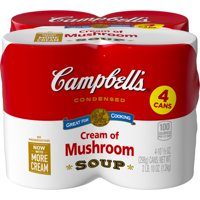 Campbell's Condensed Cream of Mushroom Soup, 10.5 oz. Cans (Pack of 4)