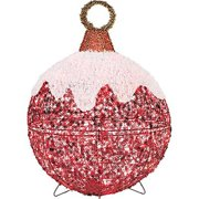 Noma/Inliten-Import V78770 Outdoor Christmas Decoration, Red Ornament, 50 Twinkling LED Lights, 24-In.