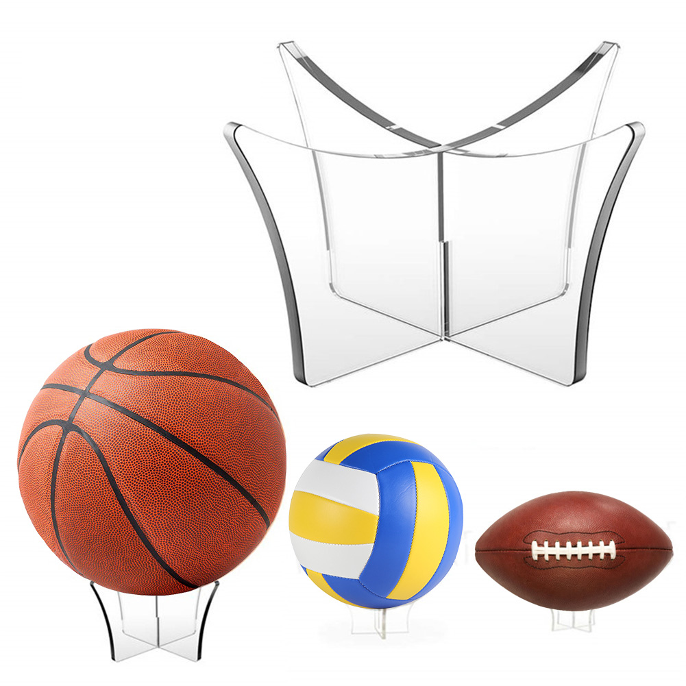 Ball Stand Display Rack Basketball Football Soccer Rugby Support Base Holder G4
