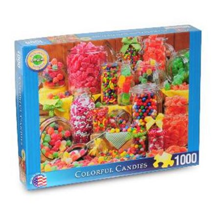 Springbok Puzzles 38-10615 Colorful Candies, 1000 Piece Delicious Delights Jigsaw Puzzle