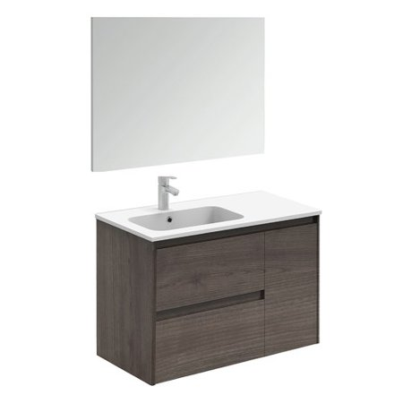 Fine Ws Bath Collections Ambra 36 Wall Mounted Single Bathroom Vanity Set With Mirror Home Interior And Landscaping Ologienasavecom