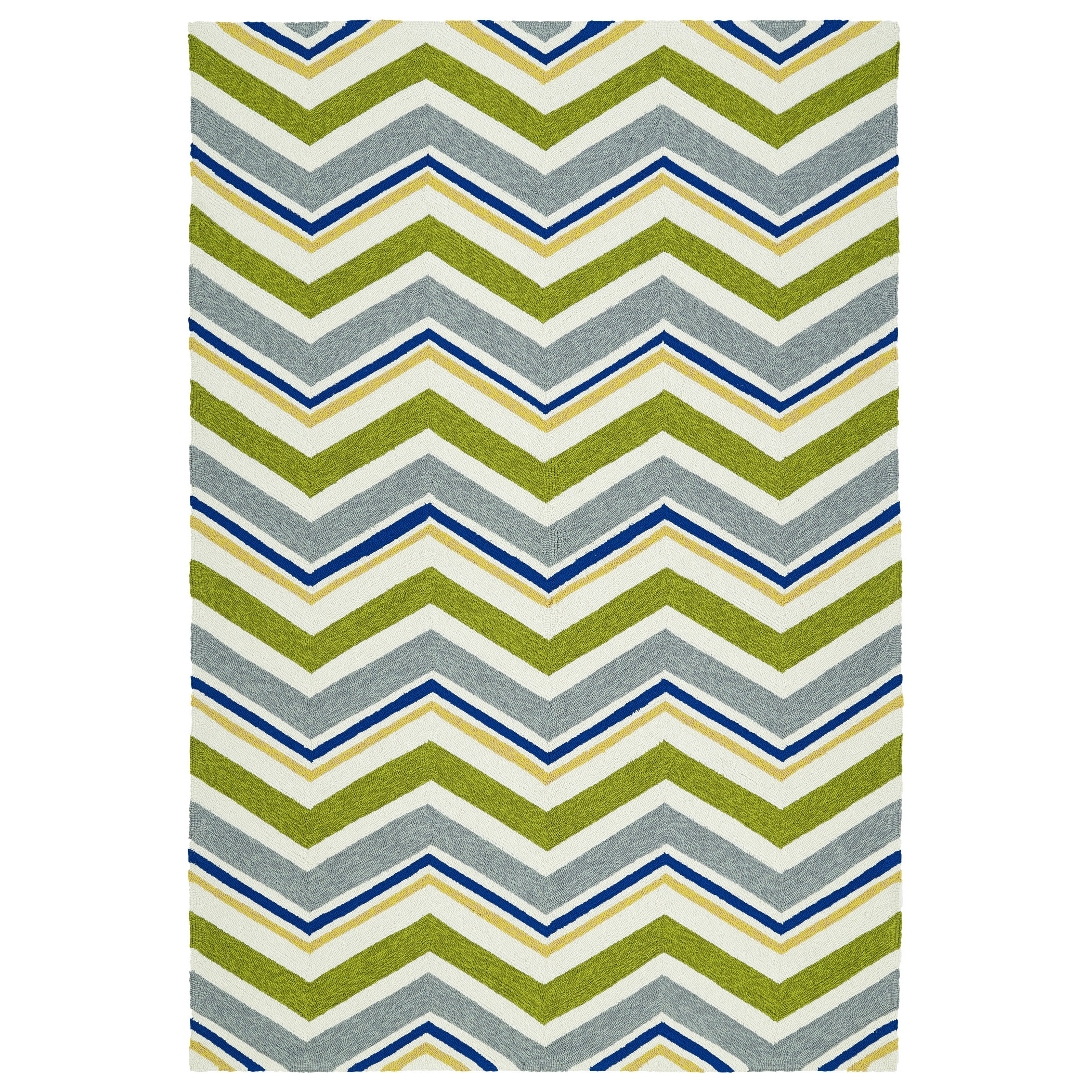 Kaleen ESC05-50 Escape Collection Non-skid Apple Green Tweed & Grey Tweed Outdoor Rug