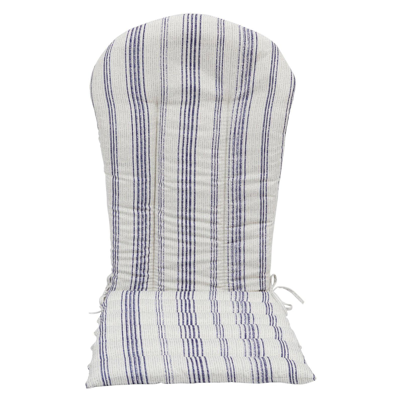 Coral Coast Beaumont Ridge Pink and Cream Adirondack Chair Cushion