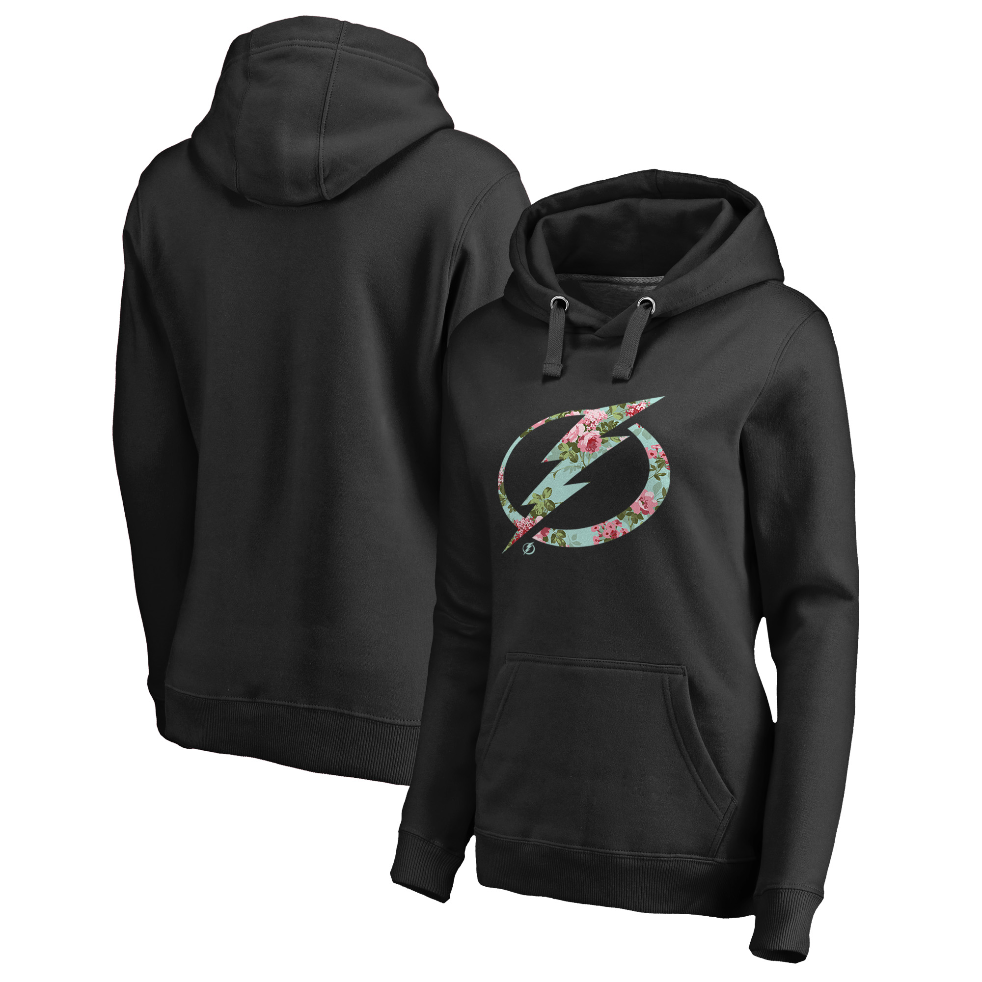 Tampa Bay Lightning Fanatics Branded Women's Lovely Pullover Hoodie - Black