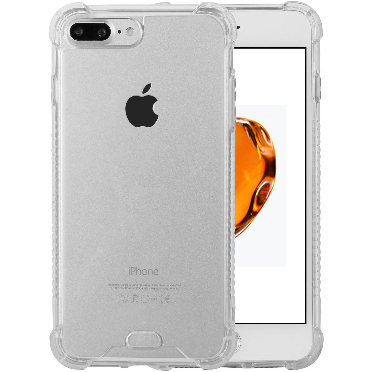 Clear TPU Protection Skin Case for Apple iPhone 7 Plus Exact Fit