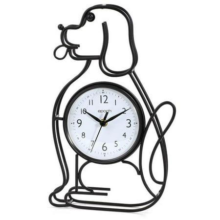 Dog Clock (Dog Silhouette Table-Wall Clock )