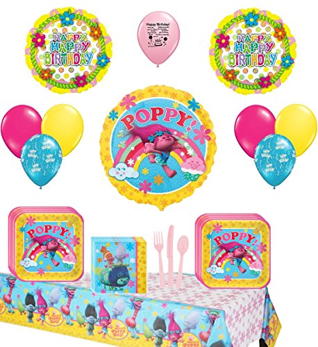 Trolls Deluxe Party Supply and Balloon Bundle