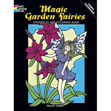 Magic Garden Fairies Stained Glass Coloring Book for $<!---->