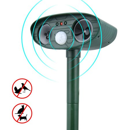 AngelCity Cat Dog Ultrasonic Repellent Outdoor Solar Powered and Waterproof Animal Repeller Deterrent Scarer Pest Control