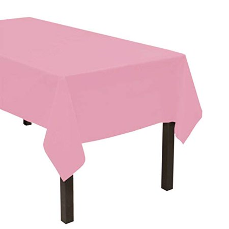 Rose Petal Pink Valentine's Day Plastic Tablecloth](Pink Plastic Tablecloths)