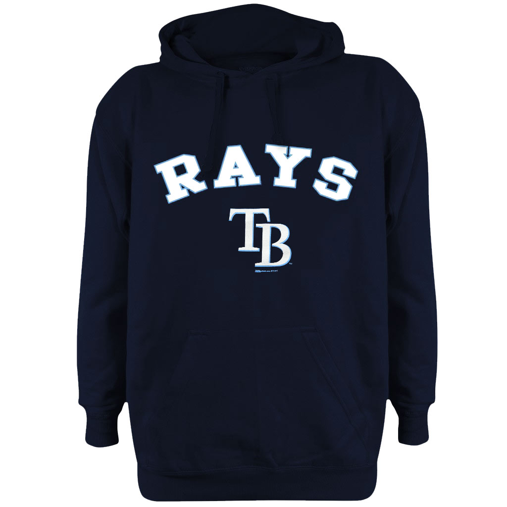 Tampa Bay Rays Stitches Fleece Pullover Hoodie - Navy