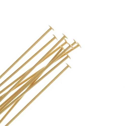 14K Gold Filled Head Pins 24 Gauge 1 Inch Long (10)