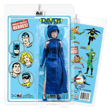 DC Comics 8 Inch Action Figures With Retro Cards: Raven - Raven Bar Dc