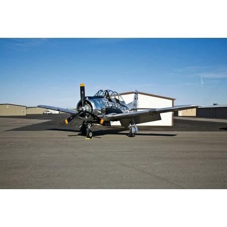 North American T 28 Trojan On Display At The Warhawk Air Museum Nampa Idaho Poster Print