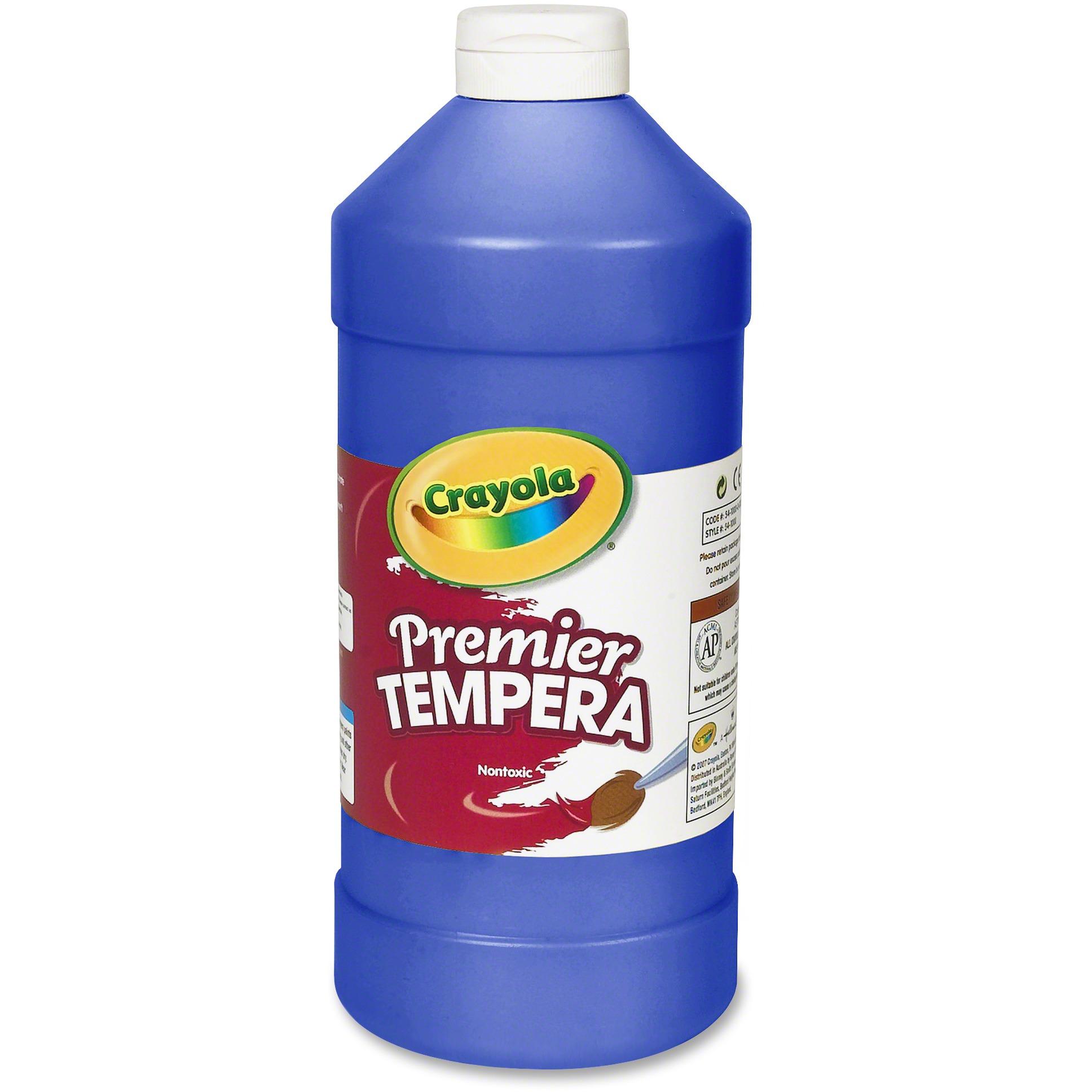 Crayola Premier Tempera Paint, Blue, 32 Oz
