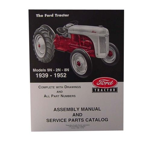 Assembly Manual For Ford New Holland Tractor 2N 8N 9N