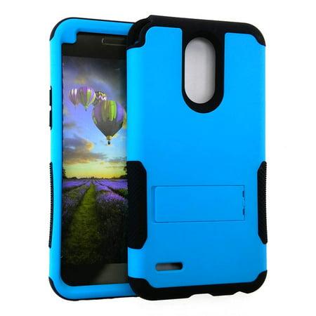 Rugged Hopper Case for LG Stylo 3 LS777, MP450, TP450 - Aqua Blue