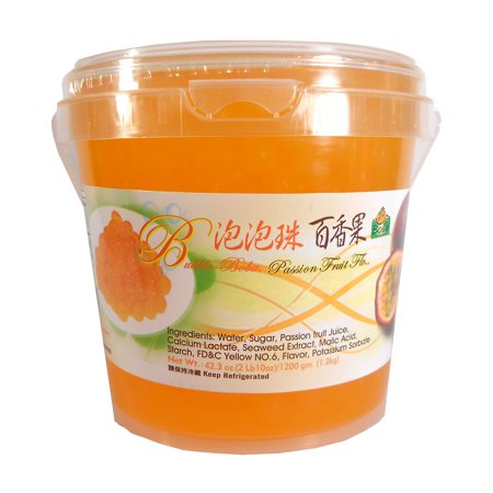 - Bolle Passion Fruit Popping Boba Pearls 42.3 Oz. (2 lbs. 10 oz.)
