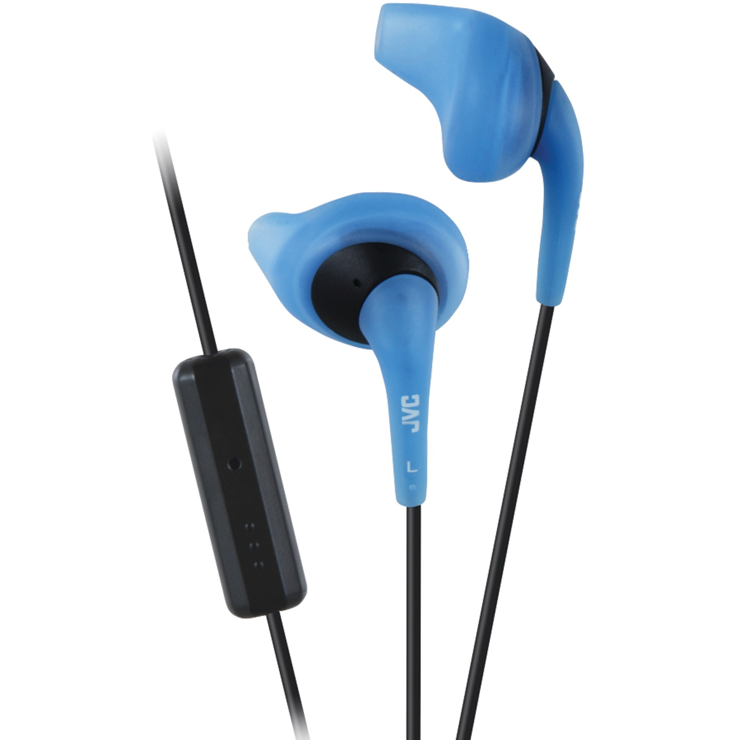JVC HAENR15AM Gumy Sports Earbuds with Microphone (Blue)