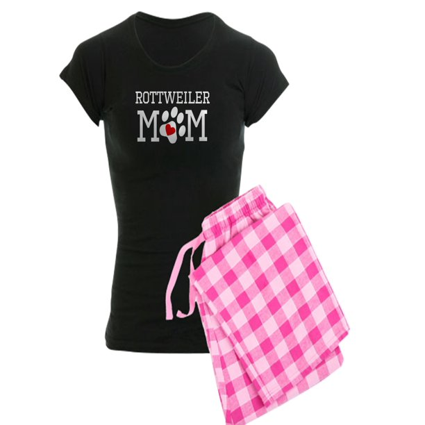 CafePress - Rottweiler Mom Pajamas - Women's Dark Pajamas