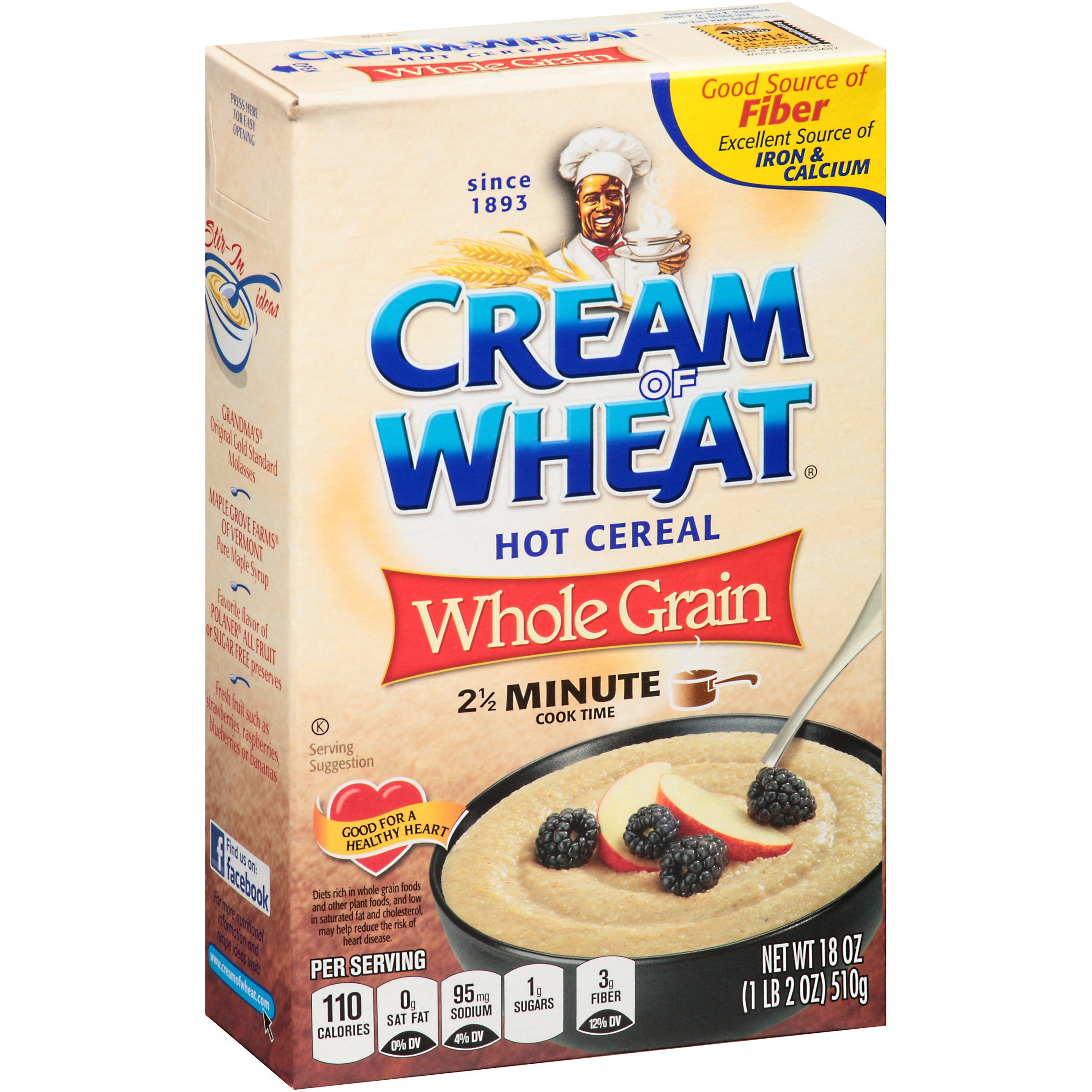Cream Of Wheat Whole Grain Hot Cereal, 18 Oz