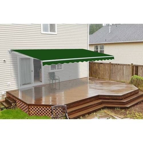 ALEKO 13'x10' Retractable Patio Awning, Green Color