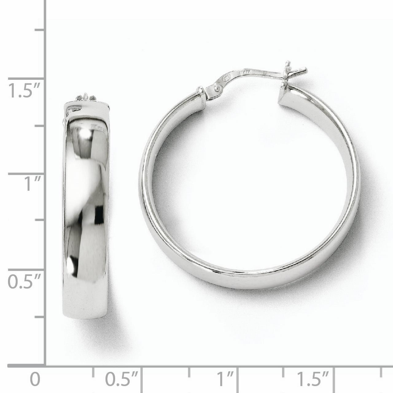 925 Sterling Silver Hinged Hoop Earrings Ear Hoops Set Fine Jewelry Gifts For Women For Her - image 2 de 3