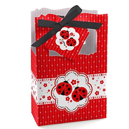 Twin Modern Ladybugs - Party Favor Boxes - Set of 12 for $<!---->