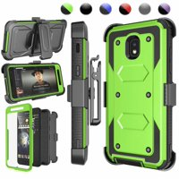 Galaxy J7 2018 Case, Njjex Samsung J7 Refine / J7 Aero / J7 Aura / J7 Crown / J7 Top / J7 Eon / J7 Star Case Holster, [Built-in Screen] & Kickstand + Holster Belt Clip Carrying Armor Case Cover