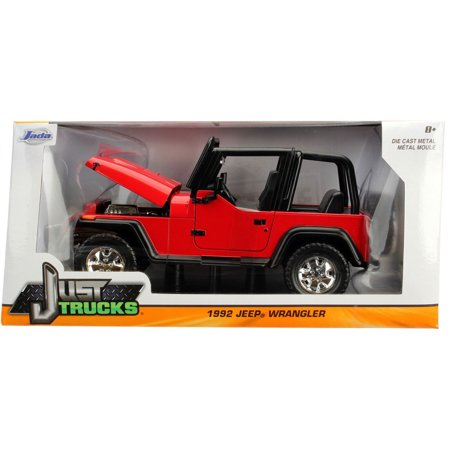 Just Truck Series: 1992 Jeep Wrangler (Red) 1/24 Scale
