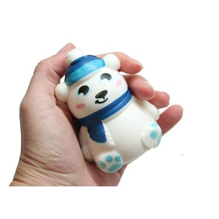 Squishy Polar Bear - Slow Rise Squish Foam Toy - Winter Holiday Christmas Stress - Winter Toys