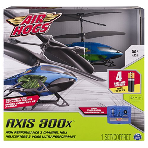 Refurbished Air Hogs, Axis 300x RC Helicopter With Batteries - Blue & Green
