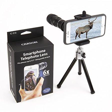 Carson HookUpz 6x18mm Monocular with Universal Smart Phone Adapter
