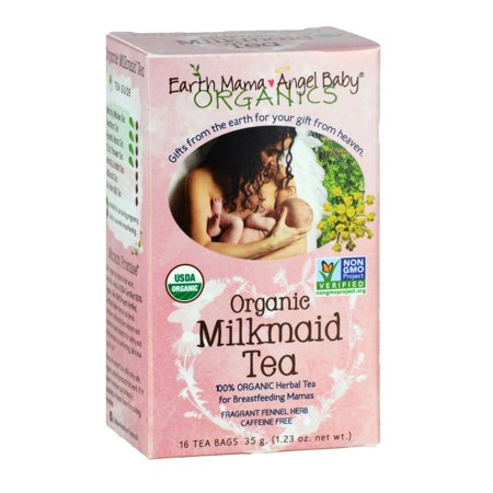 Organic Milkmaid Tea to Support Healthy Breastfeeding Milk Production, 16 Teabags/Box