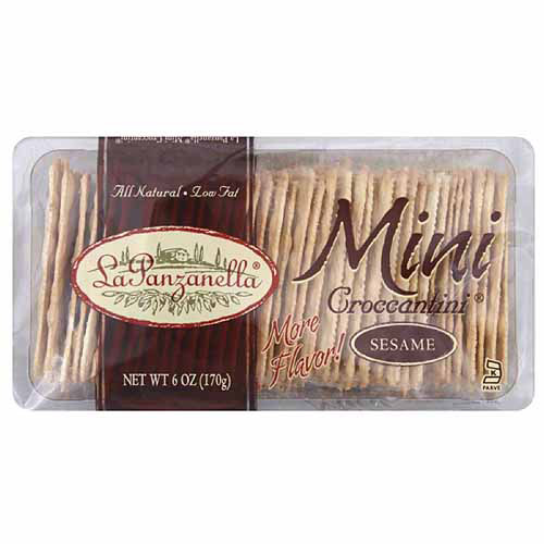 La Panzanella Mini Sesame Croccantini, 6 oz, (Pack of 12)