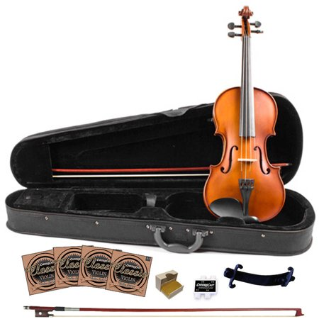 Carved Maple Top (Rise by Sawtooth Full Size Student\'s Violin with Carved Solid Spruce Top and Maple Back and)
