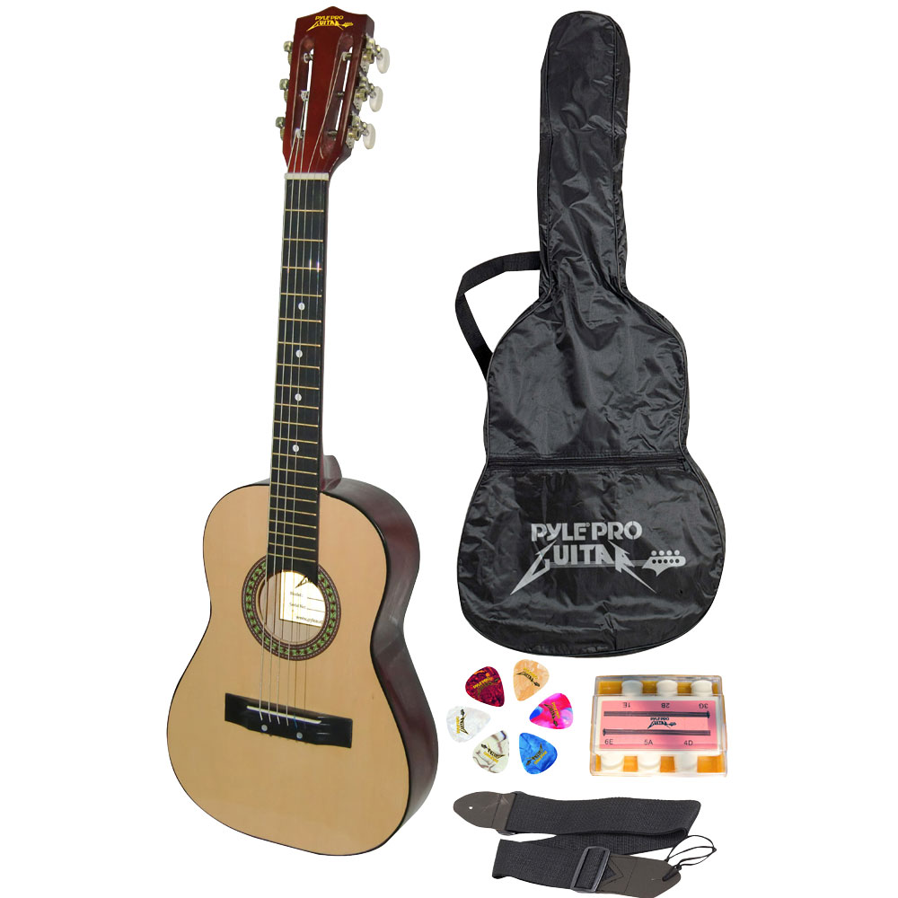 "PylePro 30"" Inch Beginner Jamer, Acoustic Guitar with Carrying Case and Accessories - Pyle pgakt30"