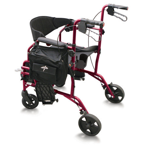 Medline Combination 19'' Ultra Lightweight Rollator/Transport Wheelchair