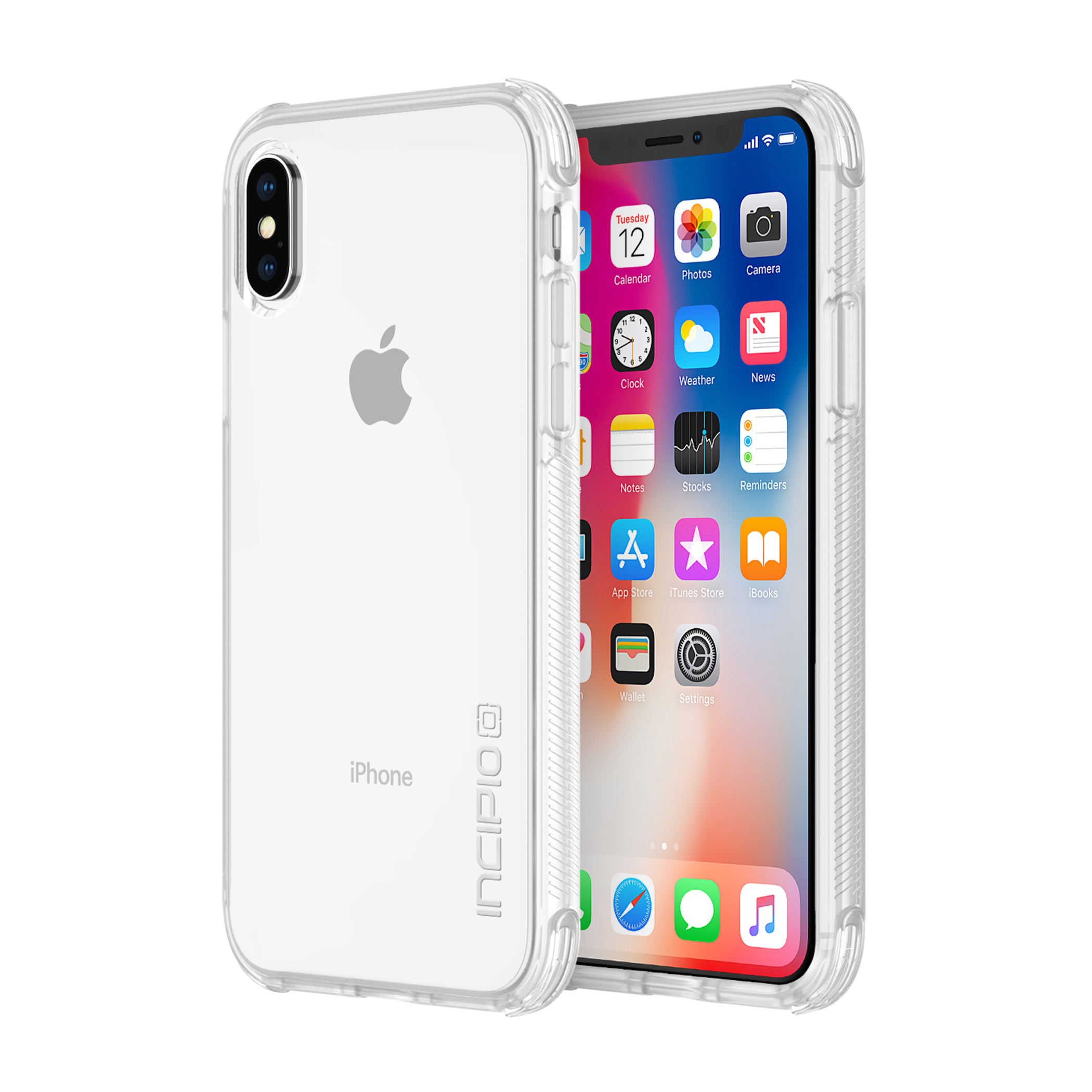 Incipio Reprieve Sport for iPhone X - Clear/Clear