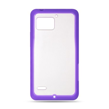 Motorola Droid Bionic case, by Insten Rubber TPU Clear Case Cover For Motorola Droid Bionic XT875 Targa, Purple - image 1 de 3