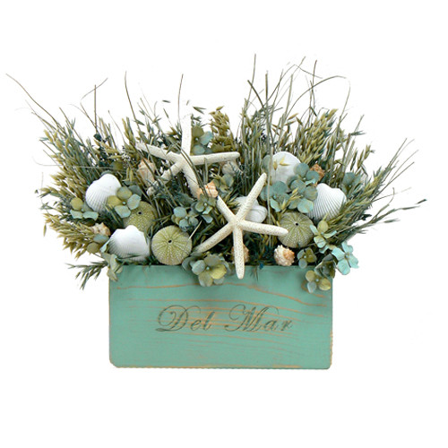 Urban Florals Caribbean Blue Table Top Wreath