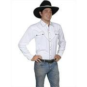 Scully P-726X-BLK-3X-B-T Mens Western Shirt - Black, 3X