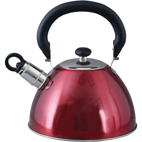 Mr. Coffee Whistling Tea Kettle, 1.8-Quart, Red