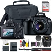 Canon EOS 4000D / Rebel T100 DSLR Camera with 18-55mm Lens + Creative Filter Set, EOS Camera Bag + SanDisk Ultra 64GB Card + 6AVE Electronics Cleaning Set, and More (International Model)