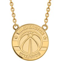 NBA Washington Wizards 10kt Yellow Gold Large Pendant with Necklace