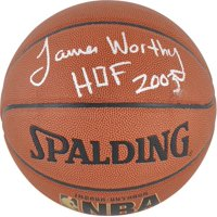 Los Angeles Lakers James Worthy Autographed Basketball - Fanatics Authentic Certified