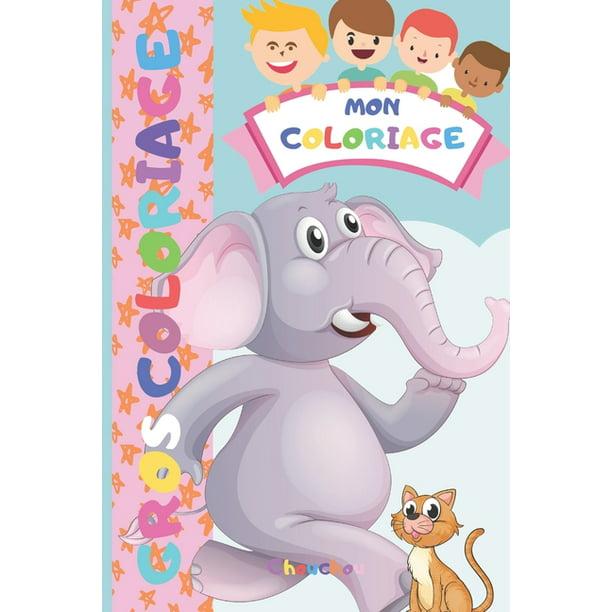 Mon Coloriage 30 Gros Coloriages Pour Enfant Dessins I Colorier I Partir De 2 Ans Et Plus Animaux De La Ferme Dinosaures Chat Chien Walmart Com Walmart Com