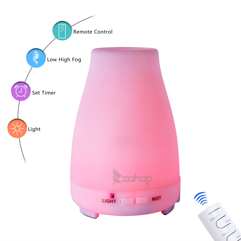 Zimtown Ultrasonic Aroma Humidifier,120/200/300/500ml Aromatherapy Essential Oil Diffuser Cool Mist Humidifier for Home, Yoga, Office, Spa