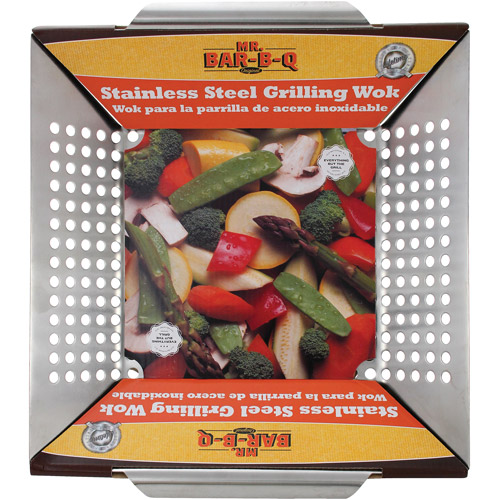 "Mr. Bar-B-Q Stainless Steel Wok Topper, 12"" x 12"""